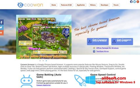 Скріншот Coowon Browser для Windows 8