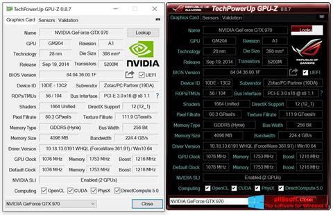 Скріншот GPU-Z для Windows 8