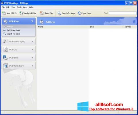 Скріншот PGP Desktop для Windows 8