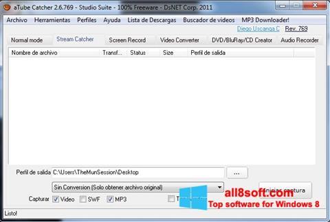 Скріншот aTube Catcher для Windows 8