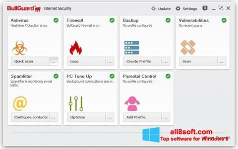 Скріншот BullGuard для Windows 8