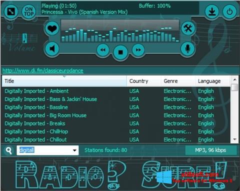 Скріншот RadioSure для Windows 8