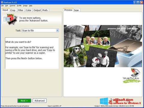 Скріншот VueScan для Windows 8