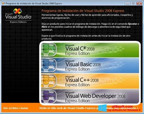 Скріншот Microsoft Visual Studio Express для Windows 8