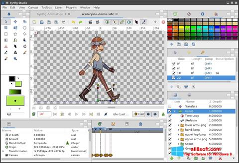Скріншот Synfig Studio для Windows 8