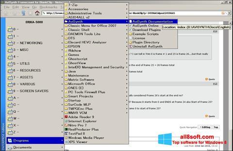 Скріншот AviSynth для Windows 8