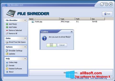Скріншот File Shredder для Windows 8