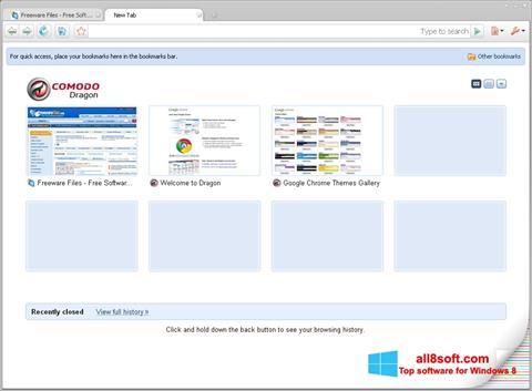 Скріншот Comodo Dragon для Windows 8