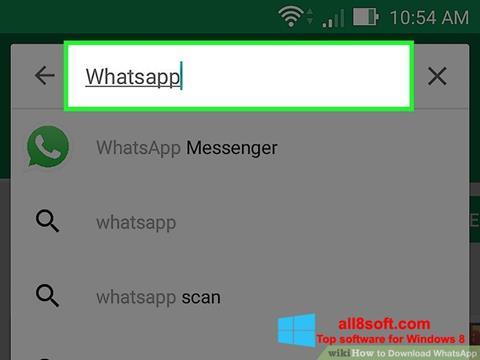 Скріншот WhatsApp для Windows 8