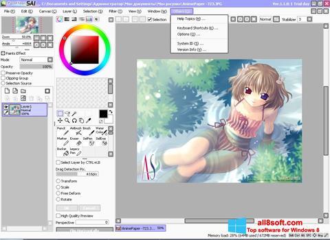 Скріншот Paint Tool SAI для Windows 8
