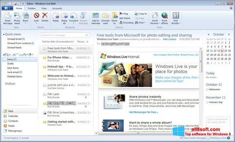 Скріншот Windows Live Mail для Windows 8