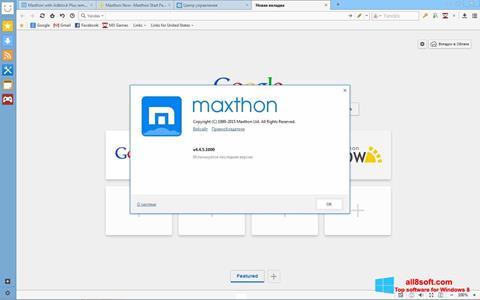 Скріншот Maxthon для Windows 8