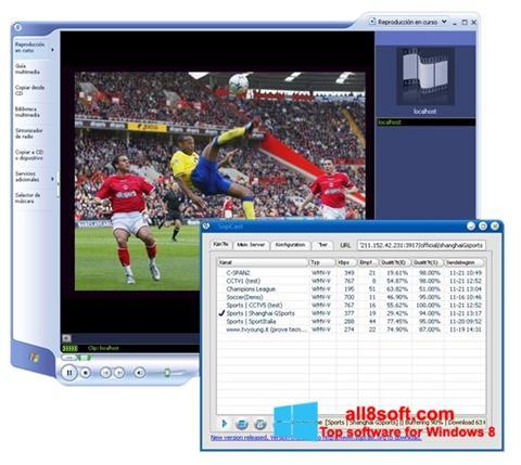 Скріншот SopCast для Windows 8