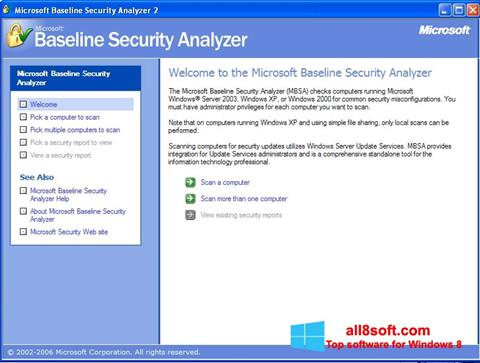 Скріншот Microsoft Baseline Security Analyzer для Windows 8