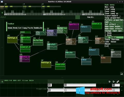 Скріншот SunVox для Windows 8