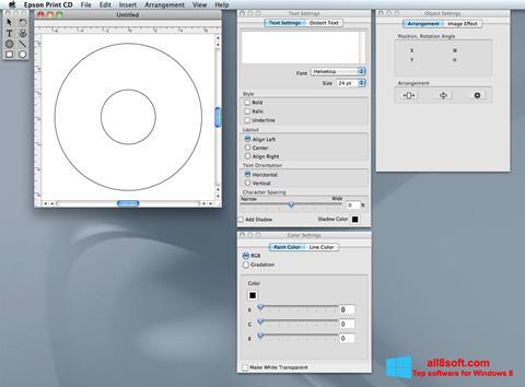 Скріншот EPSON Print CD для Windows 8