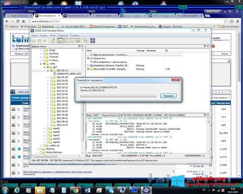 Скріншот DMDE для Windows 8