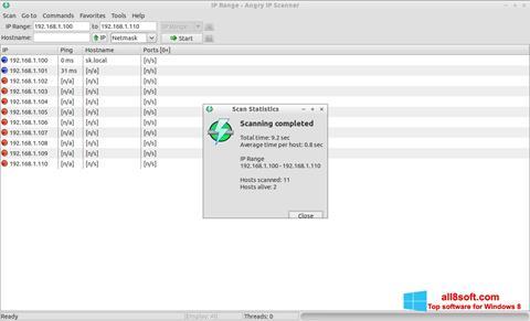 Скріншот Angry IP Scanner для Windows 8