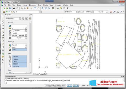 Скріншот DraftSight для Windows 8