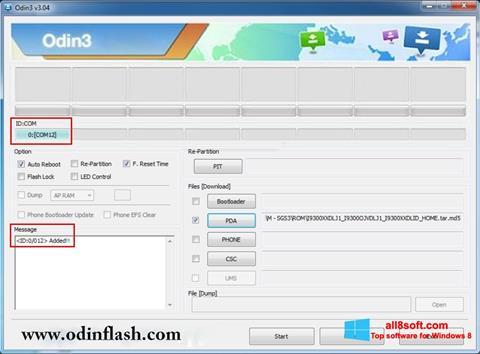 Скріншот Odin для Windows 8
