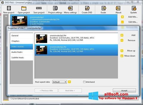 Скріншот DVD Flick для Windows 8