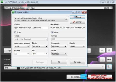 Скріншот Free MP4 Video Converter для Windows 8