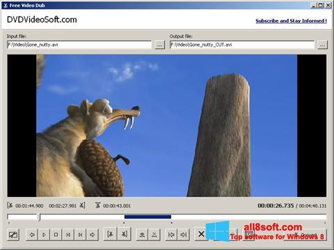 Скріншот Free Video Dub для Windows 8
