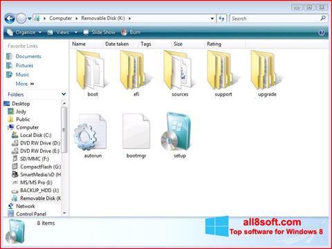 Скріншот Windows 7 USB DVD Download Tool для Windows 8