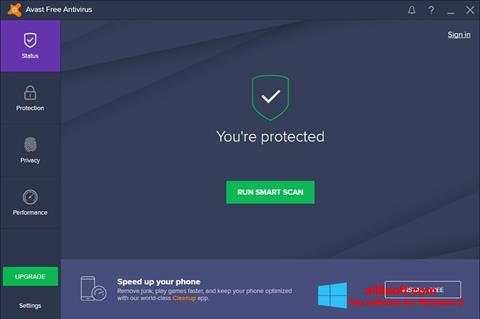 Скріншот Avast Free Antivirus для Windows 8