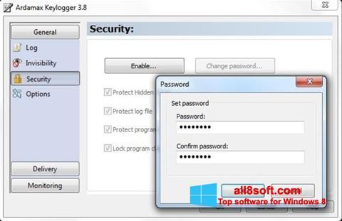 Скріншот Ardamax Keylogger для Windows 8