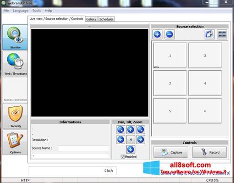 Скріншот webcamXP для Windows 8