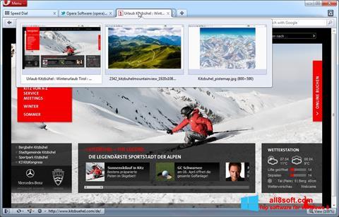 Скріншот Opera для Windows 8