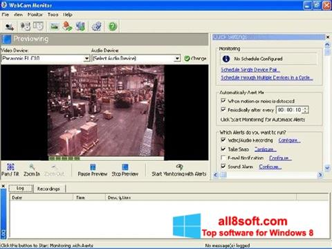 Скріншот WebCam Monitor для Windows 8
