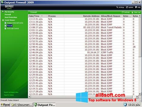 Скріншот Outpost Firewall Free для Windows 8
