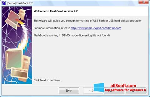 Скріншот FlashBoot для Windows 8