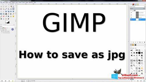 Скріншот GIMP для Windows 8