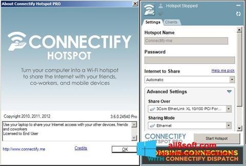 Скріншот Connectify Pro для Windows 8