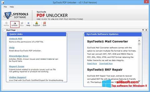 Скріншот PDF Unlocker для Windows 8