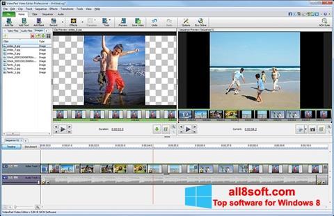 Скріншот VideoPad Video Editor для Windows 8