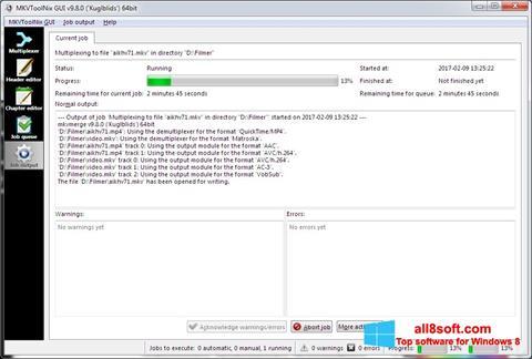 Скріншот MKVToolnix для Windows 8