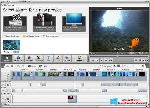 Скріншот AVS Video Editor для Windows 8
