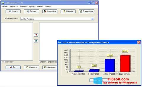Скріншот ArtMoney Pro для Windows 8