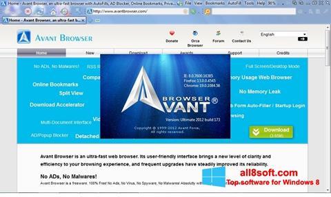 Скріншот Avant Browser для Windows 8