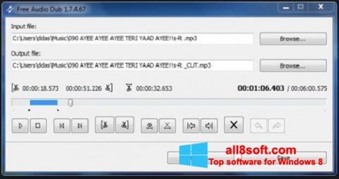 Скріншот Free Audio Dub для Windows 8