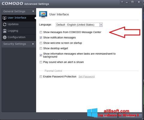 Скріншот Comodo для Windows 8