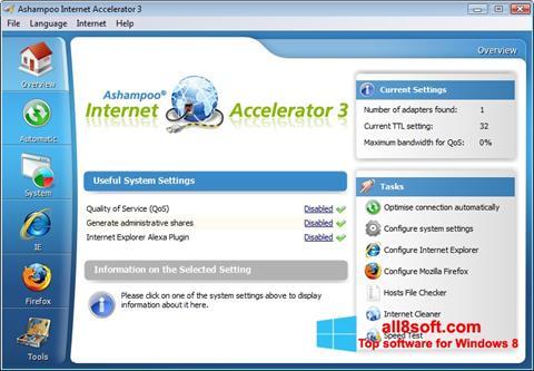 Скріншот Ashampoo Internet Accelerator для Windows 8