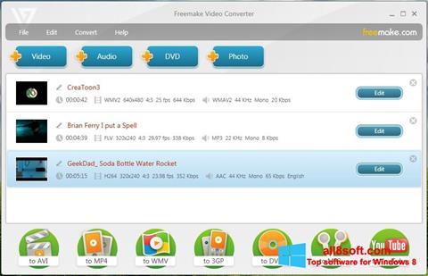 Скріншот Freemake Video Converter для Windows 8