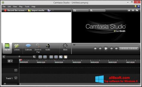 Скріншот Camtasia Studio для Windows 8