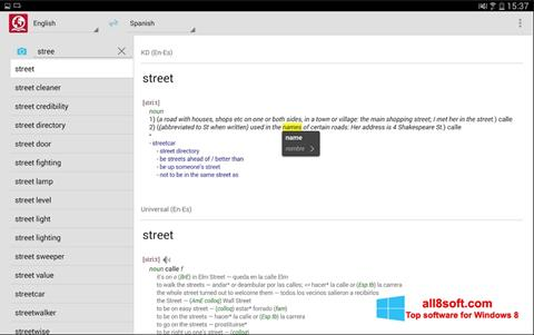 Скріншот ABBYY Lingvo для Windows 8