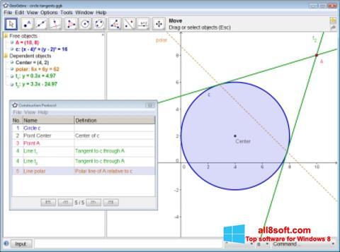 Скріншот GeoGebra для Windows 8